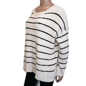 IN LOOM Chunky Oversized Knit Striped Soft Sweater